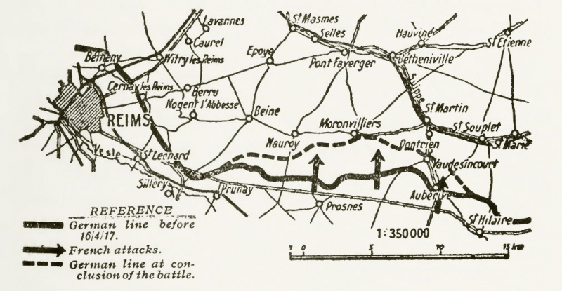 Fichier:French territorial gains in Champagne, Nivelle Offensive, April-May 1917.jpg